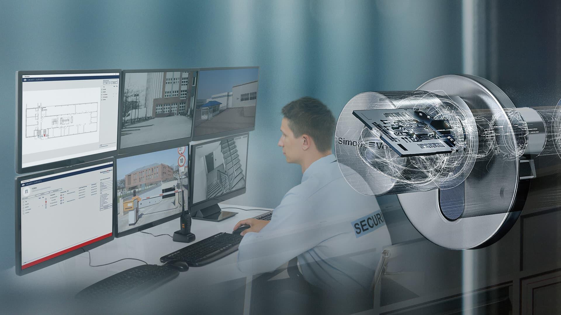 Objektüberwachung von Facility Manager über mehrere Monitore