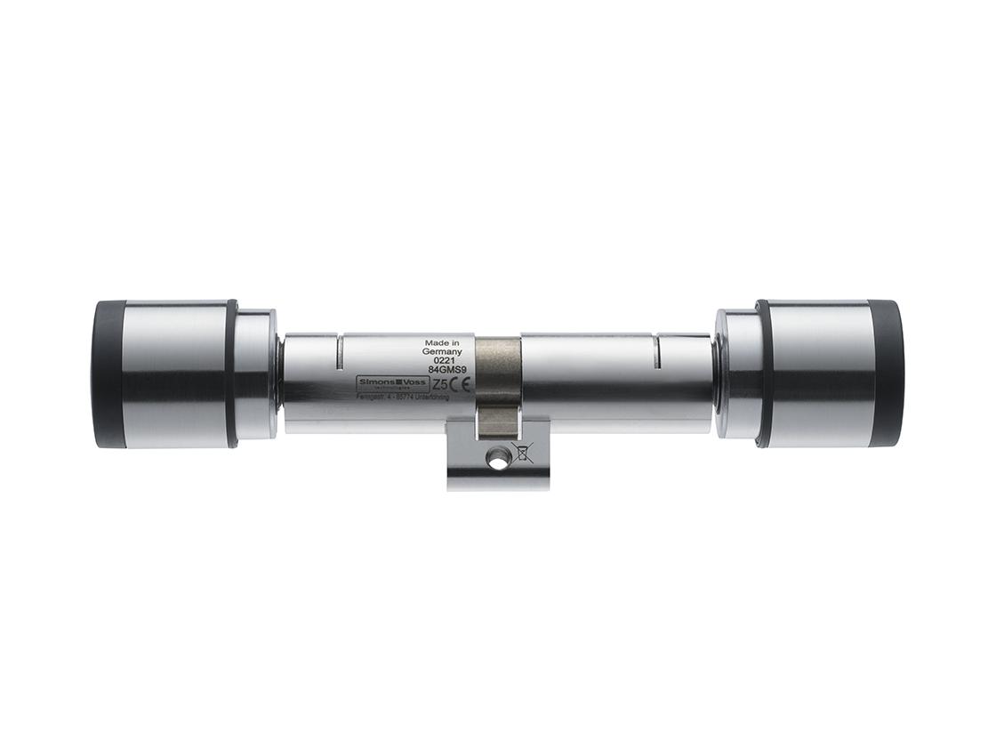 SI| Digital Cylinder AX | Swiss Round | Doppelknauf AX freidrehend - Edelstahluroprofil - Edelstahl