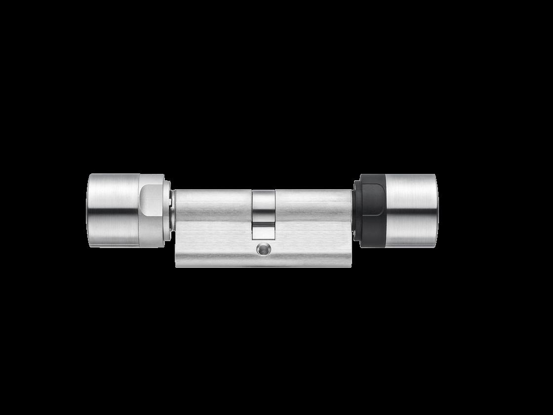 MobileKey | Digitale Schließzylinder | Doppelknauf Antipanik - Europrofil - Edelstahl