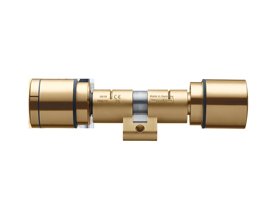 System 3060 | Digital Cylinder AX | Doppelknauf AX Comfort - Swiss Round - Messing