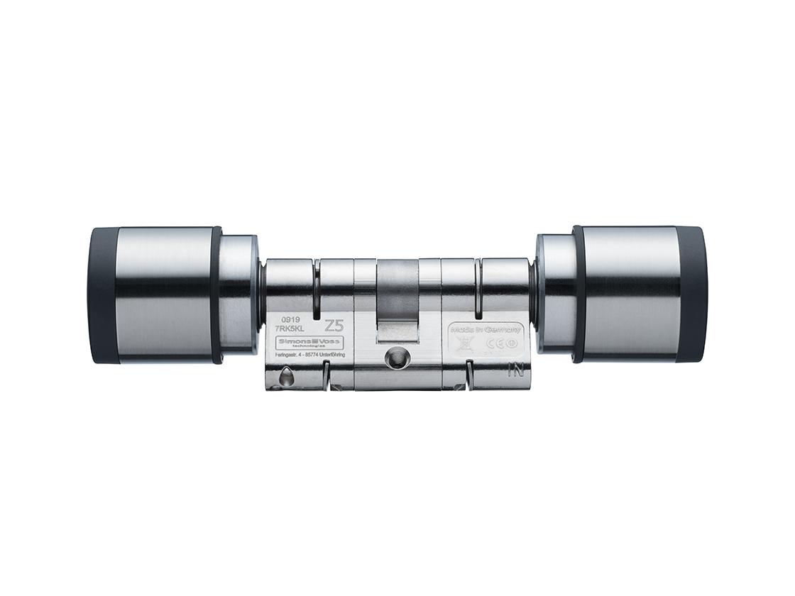 SI| Digital Cylinder AX | Europrofil | Doppelknauf Antipanik - Edelstahl