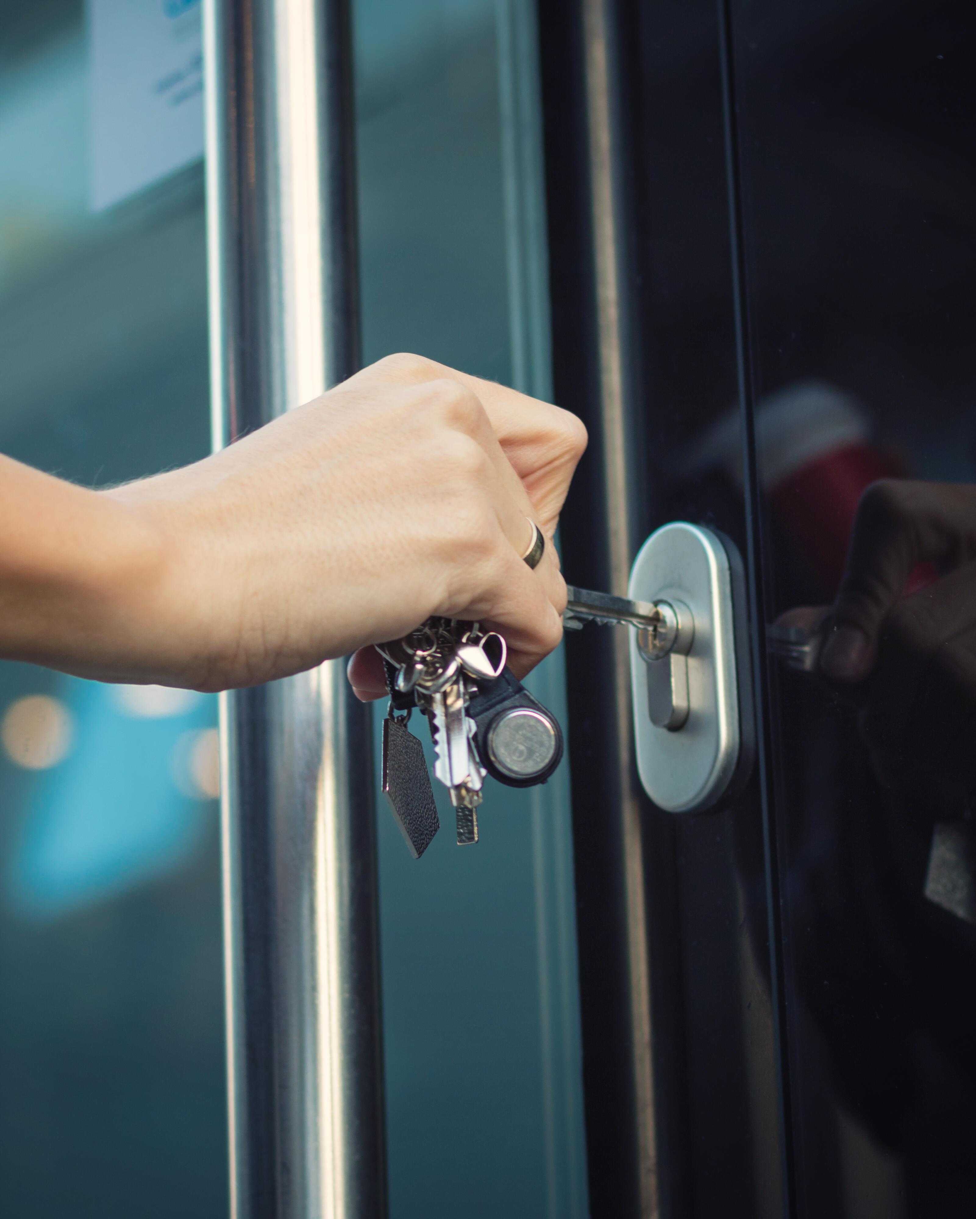 Zutritt mit Schlüssel