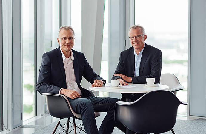 Ludger Voss, Geschäftsführer Technik und Bernhard Sommer, Vorsitzender