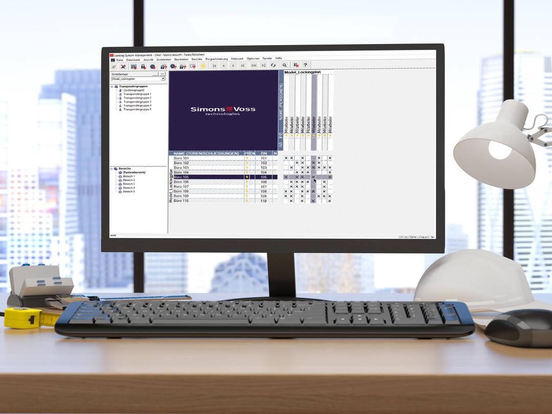 Ein Computer mit geöffneter LSM-Software