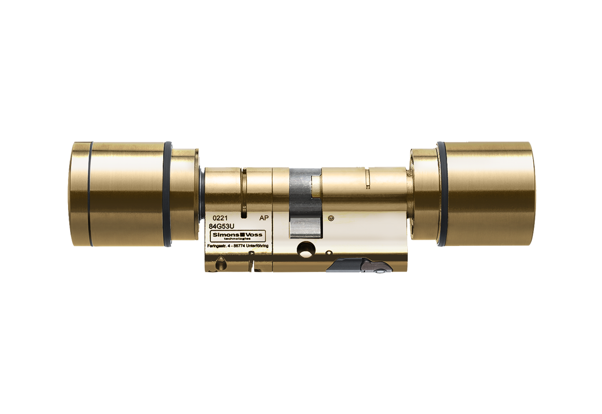 System 3060 | Digital Cylinder AX | Europrofil | Doppelknauf AX -  Antipanik - Messing - Messing