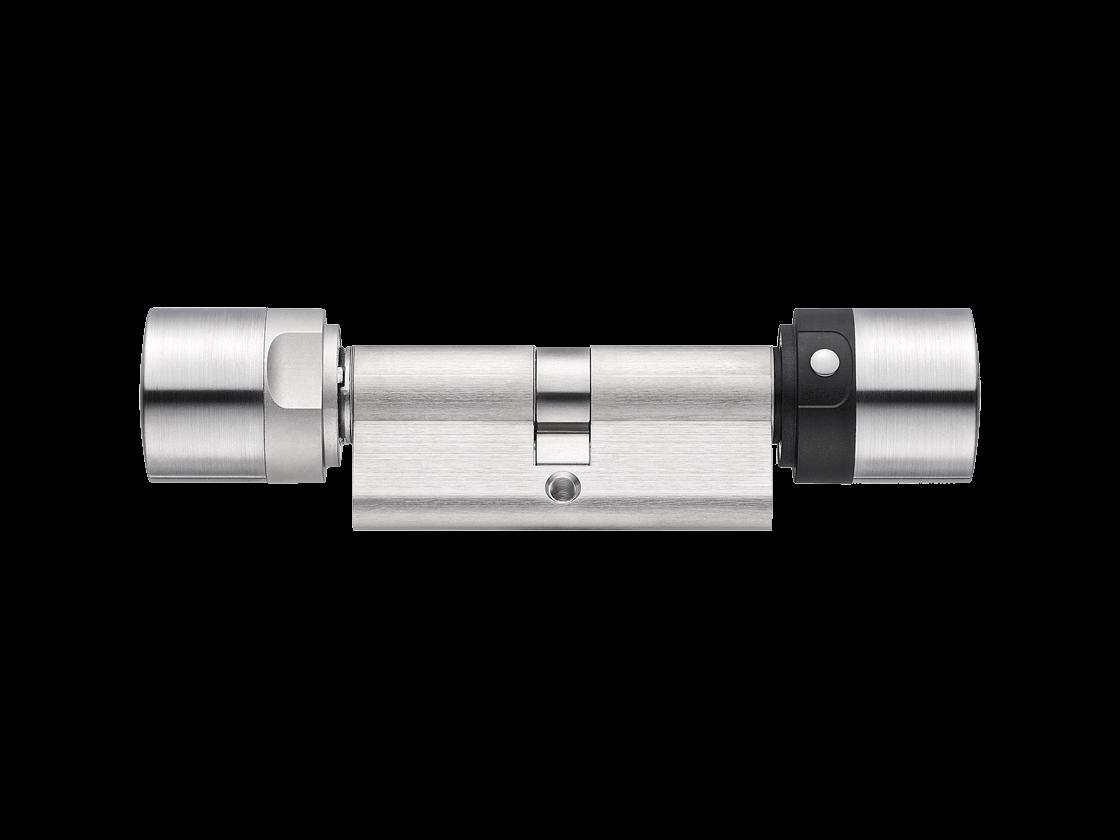 MobileKey | Digitale Schließzylinder | Doppelknauf Tastersteuerung - Europrofil - Edelstahl