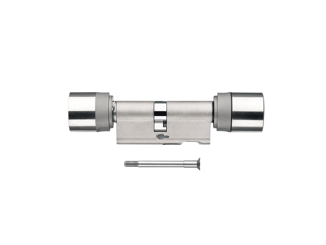 System 3060 | Digitaler Schließzylinder | Doppelknauf DoorMonitoring - Europrofil - Edelstahl