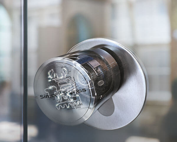 Dörrknopp till en digitalt låsbar dörr
