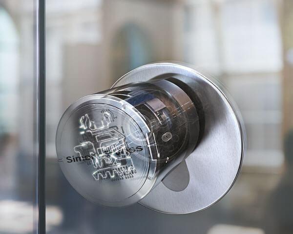 Deurknop van een digitaal te bedienen deur