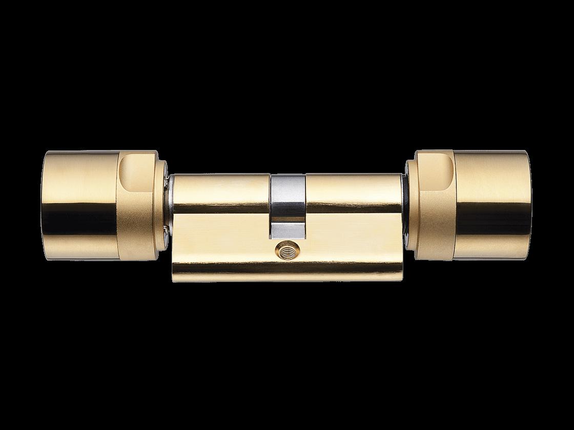 System 3060 | Digitaler Schließzylinder | Doppelknaufzylinder - Europrofil- Messing